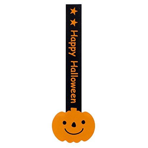 ギフトシール HW ハロウィン ロリポップ かぼちゃ (100枚) HW-8S