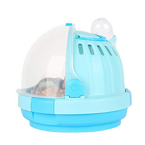 OhhGo Estuche de transporte para hámster, jaula de viaje con botella de agua para animales pequeños