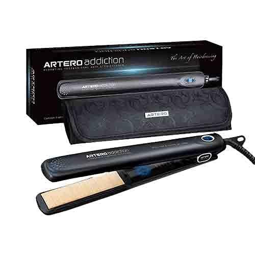 Artero Addiction - Plancha Profesional con Placas de Fibra de Carbono y Gel de Silicona