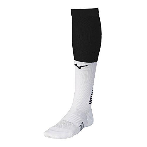 Mizuno Unisex-Erwachsene Diamond Elite OTC Socke, schwarz/weiß, Medium