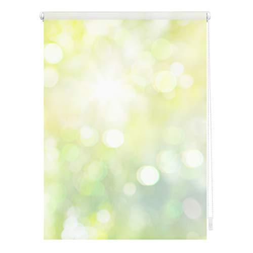 Lichtblick KRT.070.150.315 Rollo Klemmfix, ohne Bohren, Blickdicht, Lichtspiel - Grün Gelb 70 x 150 cm (B x L)