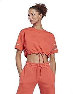 Reebok Meet You There Cotton Elastic Hem Crop T-shirt for Women