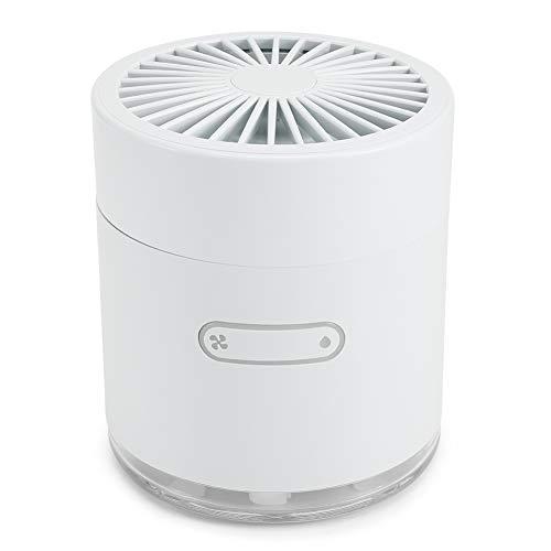 Ventilador de pulverización, 2 en 1, silencioso, Ajustable, portátil, Ventilador de enfriamiento, Ventilador humidificador, para Oficina en casa(White)