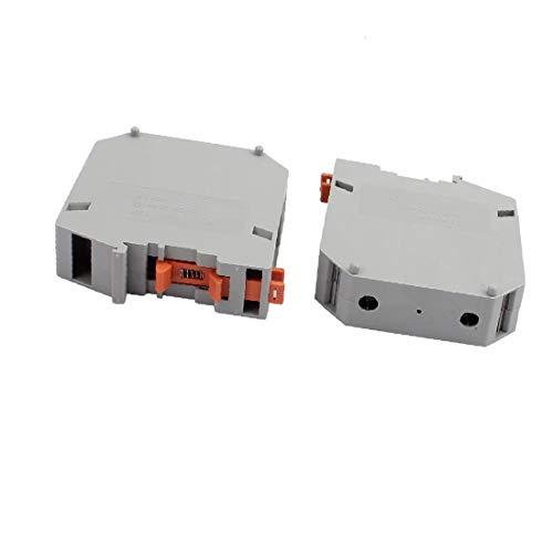 X-Dr 2Pcs UKH95 1000V 232A Schienenmontage 95mm2 Kabel Schraubklemmenblock Grau (ed7197bfba07cfcea5ce42e7629f0daf)