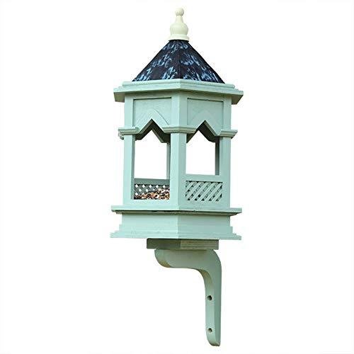 SqSYqz Comedero para pájaros Lighthouse, comedero para pájaros con Capacidad de Semillas, mansión, Techo de Cobre Puro Extra Grande, comedero para pájaros con Capacidad para Semillas