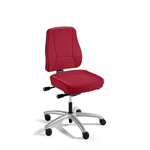 Schreibtischstuhl | Mit Muldensitz | Rückenlehnenhöhe 540 mm | Rot | Prosedia - Bandscheibendrehstuhl Bandscheibendrehstühle Bürodrehstuhl Bürodrehstühle Bürostuhl Bürostühle Drehstuhl Drehstühle Schreibtischstuhl Schreibtischstühle Universalstuhl