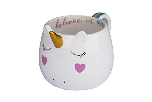 Tri-coastal Design - Taza de té/café con Tema de Animales Divertidos: Taza de Regalo de cerámica Hermosa (Unicorn)