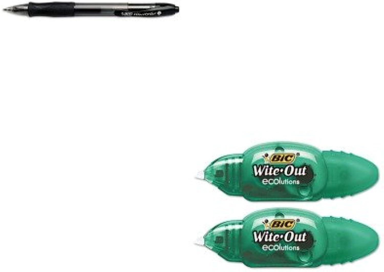 Kitbicrlc11bkbicwoetp21 – Value Kit – Bic Bic Ecolutions Mini Korrekturroller (bicwoetp21) und BIC VELOCITY Roller Ball Retractable Gel Pen (bicrlc11bk) B00MOOW0US   Ausgezeichnetes Preis