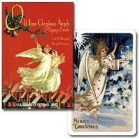 【オリジナルは18世紀のポストカード】トランプ オールドタイムクリスマス シングル ピンク