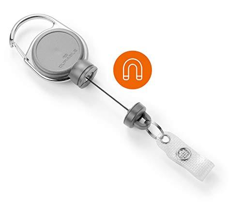 Durable 832910 Jojo für schwere Kartenhalter oder Schlüssel bis 300g, 1 Stück, grau