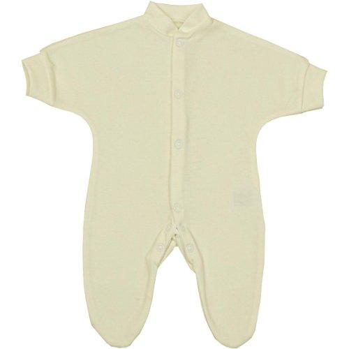 Babyprem Frühchen Kleine Frühgeborene Baby Kleidung Schlafanzüge Strampler 38-44cm Creme P2