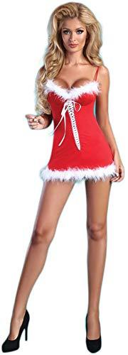 Livia Corsetti verleidelijk kerstdessous-kostuum met mini-jurk & Panty, in mooie geschenkdoos
