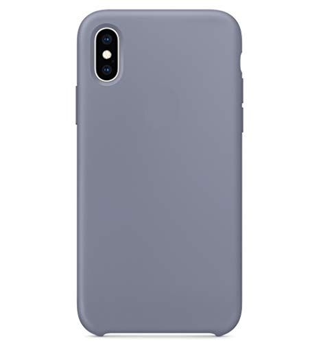 Maycase Compatible for iPhone Xs Case, Liquid Silicone Case Compatible with iPhone Xs 5.8 inch (Lavender Gray)