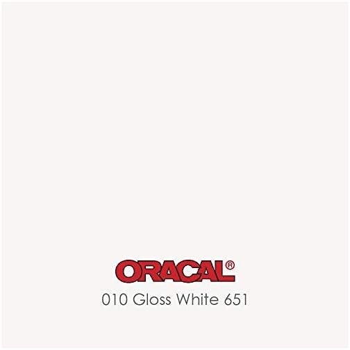 "ORACAL 651 White Permanent Vinyl - 12"" x 15 Feet Roll Glossy |"