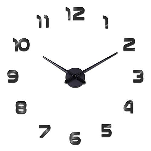 Reloj de Pared Moderno con Adhesivo 3D, para decoración del hogar, Oficina, Regalo...