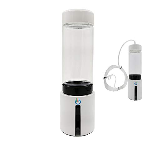 H2 USB Sport Pro II Portable Hydrogen Water Generator with Glass Bottle and Inhaler Adapter