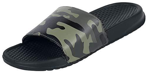 Black Premium by EMP Schwarze EMPiletten mit Camouflage Muster Unisex Sandalias Negro EU41