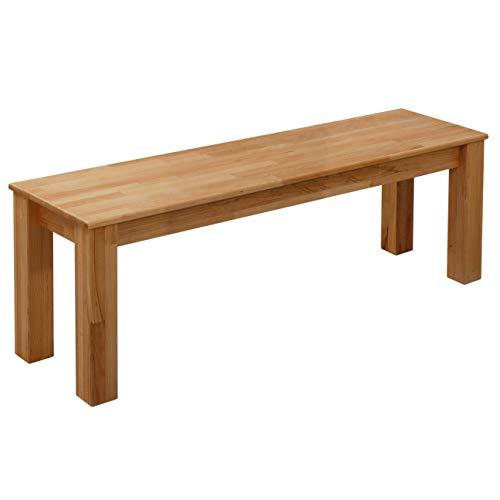 Krok Wood Sitzbank Bonn aus Massivholz in Buche 160x35x45 cm
