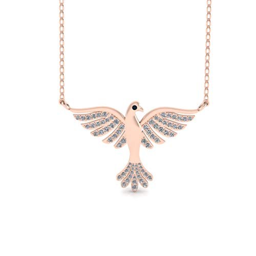 Jbr Flying Bird Diamond Stud Sterling Silver Necklace Jewelry Gifts Mother's Day Aniversary Promise with Jewelry Gift