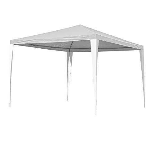 Hengda Pavillon 3x3m Wasserdicht weiß UV-Schutz Gartenzelt Partyzelt ohne Seitenteilein für Grillen Camping Flohmärkte