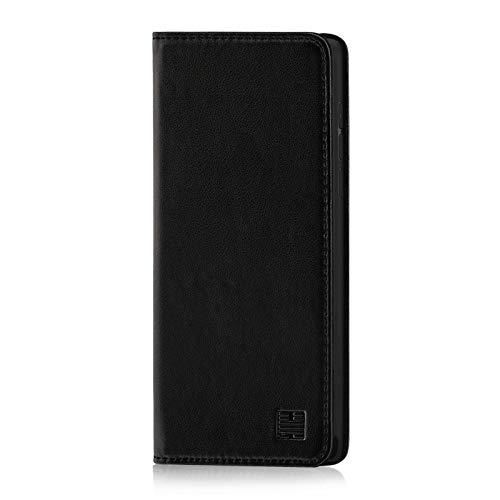 32nd Classic Series - Funda Tipo Libro de Piel Real para Xiaomi Mi Mix 3, Carcasa de Cuero Premium diseñada con Cartera, Cierre Magnetico y Soporte Integrado - Negro