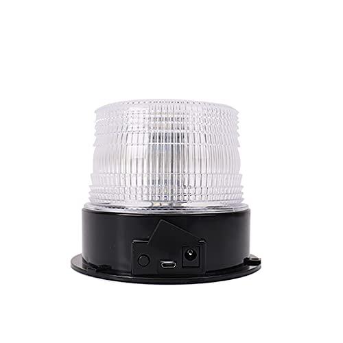 LXSTARS Lámpara de Alarma de Coche Succión magnética Linterna Colorida Lámpara de Advertencia de Coche Luz estroboscópica de Coche Impermeable Recargable con Mando a Distancia
