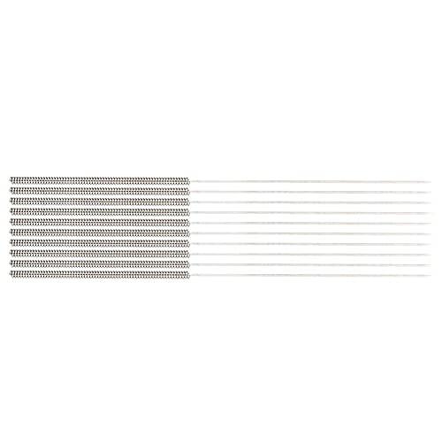 Redxiao Ago di Pulizia Flessibile Durevole dell'ugello dell'Acciaio Inossidabile, Aghi di Pulizia 0.4mm per la Stampante 3D