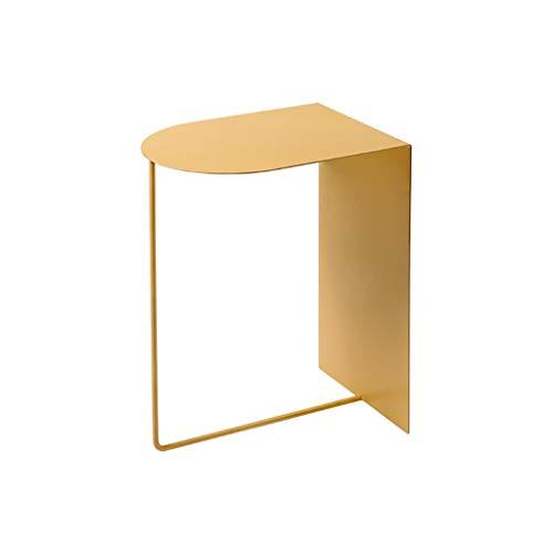 Iron Small Bijzettafeltjes Moderne minimalistische stijl Mini Side Table bank in de woonkamer Nachtkastje kleine salontafel 11,8 x 19,68 x 15,7 inch (Color : Yellow, Size : 11.8×19.68×15.7 Inches)