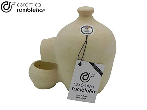 Rambleña Keramik | Tränke für Hühner | Vogeltränke | La Rambla (Cordoba) | 100% handgefertigt | 2 Liter | Eco