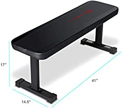 Marcy Flat Utility 600 lbs Capacity Weight Bench for Weight Training and Ab Exercises SB-315