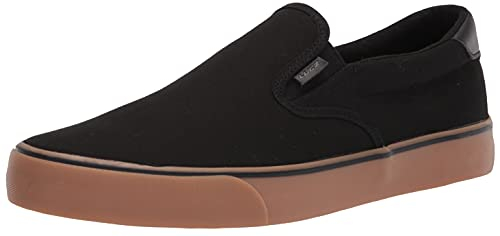 Lugz Men's Clipper Sneaker, Black/Gum/Black, 10