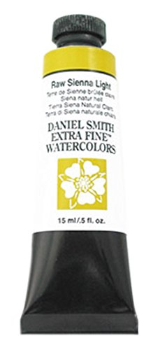 DANIEL SMITH Extra Fine Watercolor 15ml Tube, Raw Sienna Light