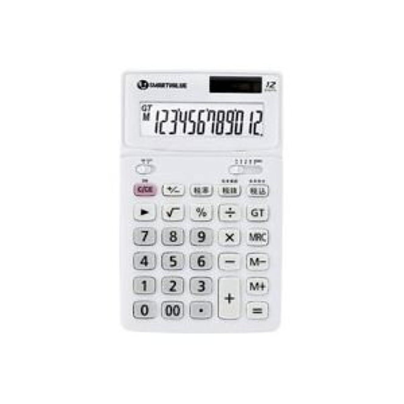 許す抜粋無条件(業務用4セット)ジョインテックス 中型電卓 ホワイト K071J