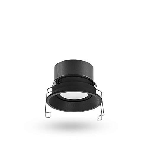Enlylyog LED Spotlight 5W Pequeño Downlight Tri-Color Cristal Downlight Hole Light Home Dormitorio Pasillo Pasillo Pórchido Sala de Estar Techo Techo Luz Embedded 7W Agujero Luz