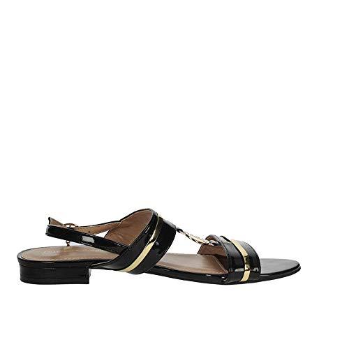 Laura Biagiotti Scarpe Sandali da Donna Vernice Nera 5611-BLACK