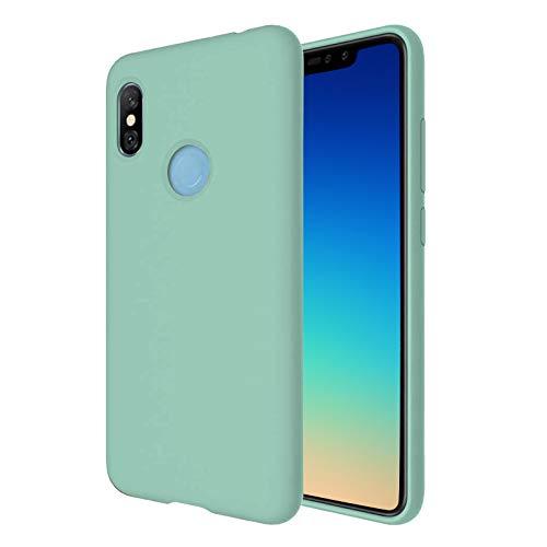 """TBOC Funda para Xiaomi Redmi Note 6 Pro [6.26""""] - Carcasa Rígida [Turquesa] Silicona Líquida Premium [Tacto Suave] Forro Interior Microfibra [Protege la Cámara] Resistente Suciedad Arañazos"""