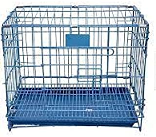 GS Double Door Folding Metal Dog Cage (Black, Size :36 Inch)