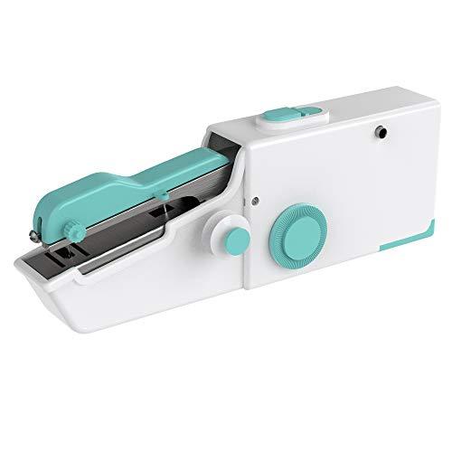 Cenocco CC-9073 Easy Stitch - Máquina de coser portátil alimentada por 4 pilas AA / adaptador de corriente DC6V, color turquesa, 60 unidades por caja