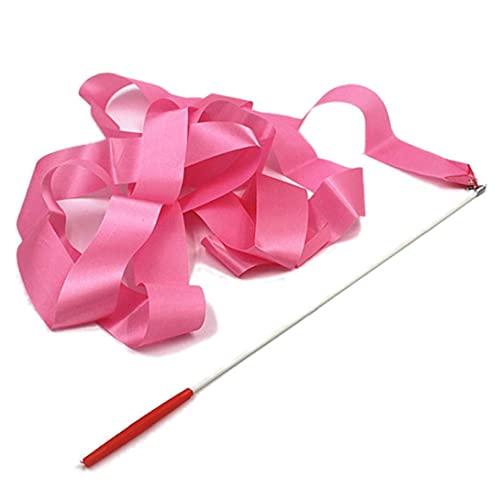 1pc Danza Ribbon Ritmica per Bambini Ginnastica Nastro Arte Danza Stick Rotating Bacchetta Magica