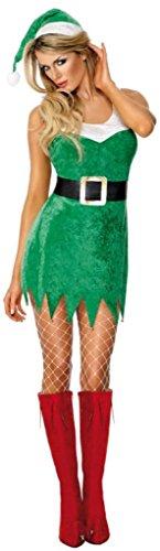 Smiffy's - Disfraz de elfa sexy para mujer, talla M (30478M)