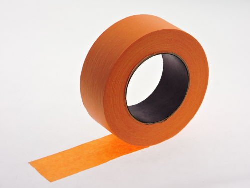 """2pk 2"""" x 60 yd Orange Painters Tape PROFESSIONAL Grade Masking Edge Trim Easy Removal (48MM 1.88 in) Photo #2"""
