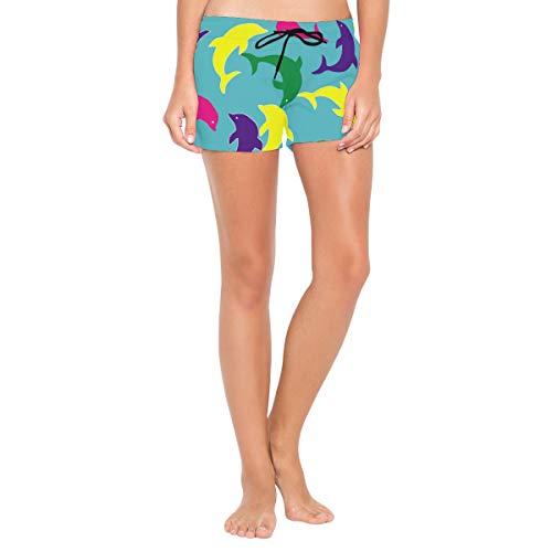 TIZORAX Kleurrijke Dolfijn Dames Sport Zomer Zwembad Beach Board Shorts