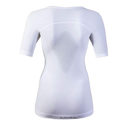 UYN Damen Visyon Light Kurzärmliges Unterhemd, Weiß/PearlGrau, S/M - 2