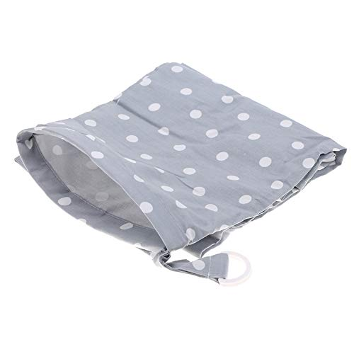 Cubierta de lactancia del bebé, Suave ropa de lactancia manta de algodón mantón transpirable Delantal Cubrir con bolsa a juego libre para lactancia materna (Puntos)