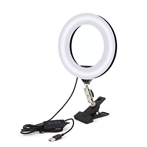 ZNBJJWCP Luz de Anillo de Selfie LED Regulable con Soporte USB Selfie Lámpara Lámpara de Anillo Grande Fotografías de fotografía Grande para computadora portátil PC