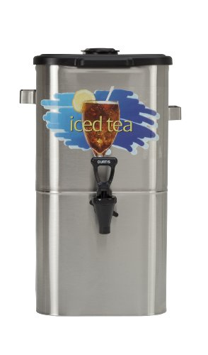 "Wilbur Curtis Iced Tea Dispenser 4.0 Gallon Tea Dispenser, Oval 17""H - Designed to Preserve Flavor - TCO417A000 (Each)"