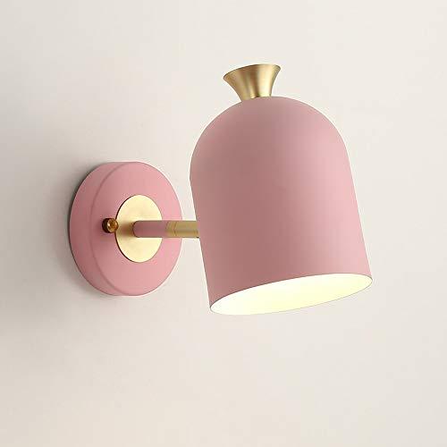YBright Nordic Minimalist Fall Light Macaron Lámpara de metal Iluminación Luces de noche Lámpara de cama ajustable Titular de la lámpara E27 Socket Industrial Wall Sconce para dormitorio Sala de estar