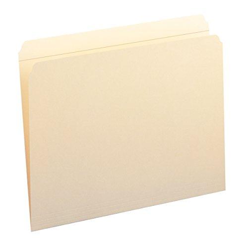 Smead File Folder, Reinforced Straight-Cut Tab, Letter Size, Manila, 100 Per Box (10310)