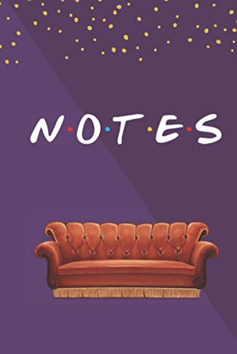 Notes: FRIENDS Couch Purple Notebook | A Friends TV Show Hardcover Notebook | Personalized FRIENDS journal or Notebook |Lined Notebook to write in|120 ... Diary and Planner | For FRIENDS TV Show Fan