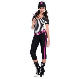 Emmas Garderobe Football Referee Damen-Kostüm - UK Größe 8-14 (Women: 40-42, Referee)